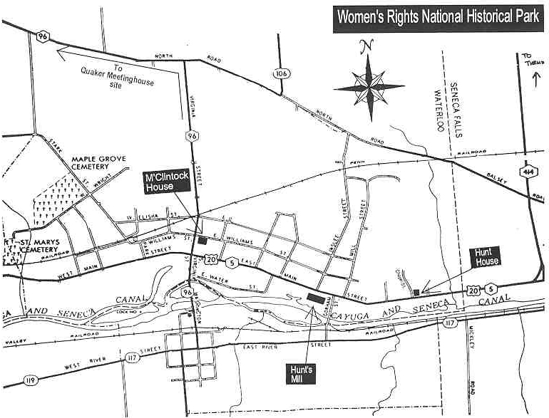 Womens Rights National Historical Park - Map os us national historical parks