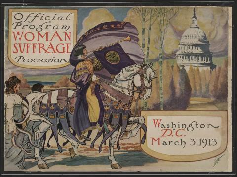 Woman Suffrage Procession - March 3, 1913 Civil Rights American History Social Studies