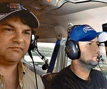 Cory Lidle at the Controls of His Plane