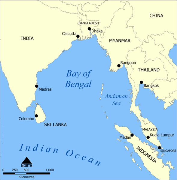 Image result for Andaman Sea, map