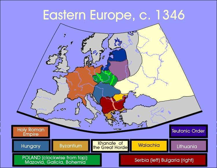 Map Of Eastern Europe Circa - Map of eastern europe