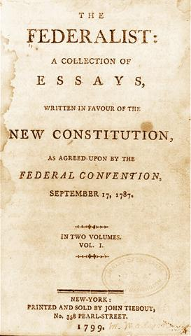 Essays written to urge ratification of the contitution