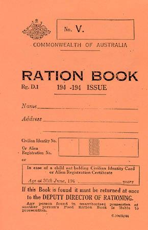 Australia - A Child's Ration Book World History Government Social Studies