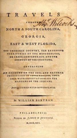 Travels Through North and South Carolina by William Bartram