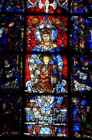 Blue Virgin - 1170 Window at Chartres  Medieval Times Philosophy Visual Arts