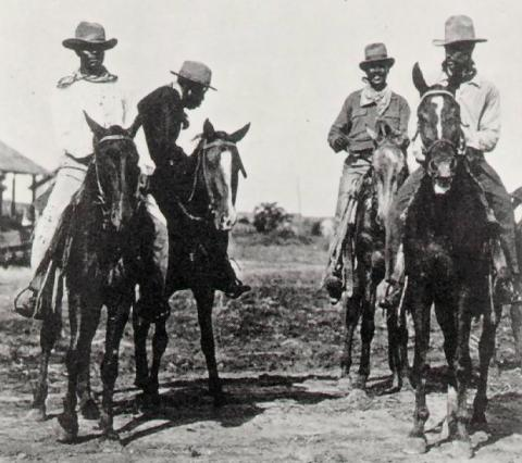 African-American Cowboys in Texas (Illustration) American History Biographies Nineteenth Century Life Social Studies African American History