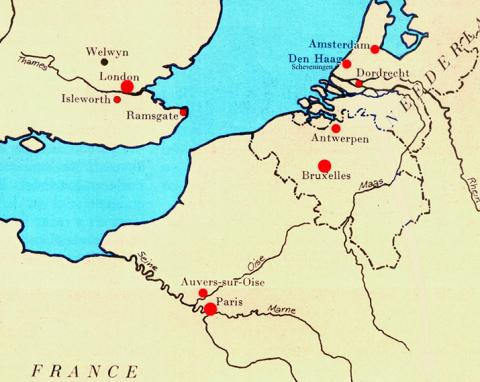 Map - Location of Brussels Social Studies Visual Arts Nineteenth Century Life Geography