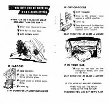Protection from the Atom Bomb - Instructions