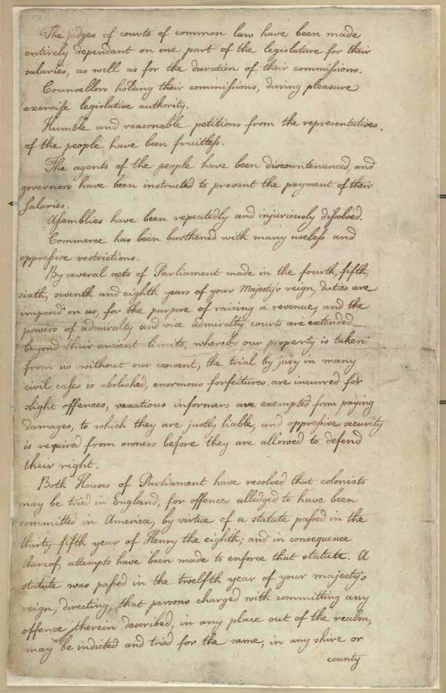 America Grievances Letter To King George III Page 2 on Story Of Us Westward Expansion