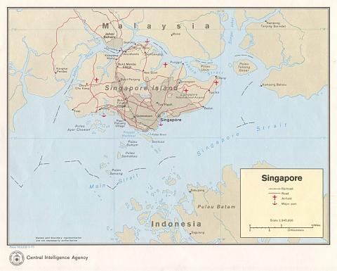 Singapore - Map Locator Geography Social Studies World History
