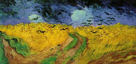Wheat Fields with Crows - van Gogh Painting Famous People Visual Arts Nineteenth Century Life