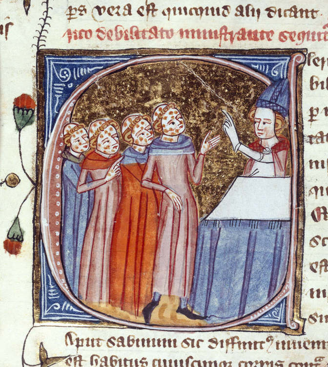 Medieval Drawing Of People With Plague