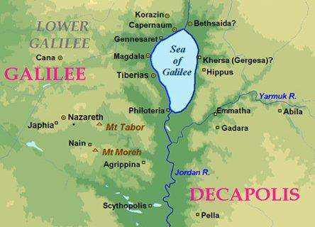 galilee map locator