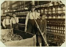 Sweeper and Doffer Boys in South Carolina Cotton Mill