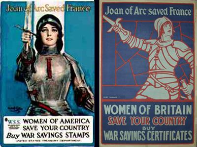 War Posters Featuring Joan of Arc