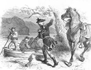 BENEDICT ARNOLD ESCAPES (Illustration) American Revolution Biographies Famous People History Revolutionary Wars Social Studies American History