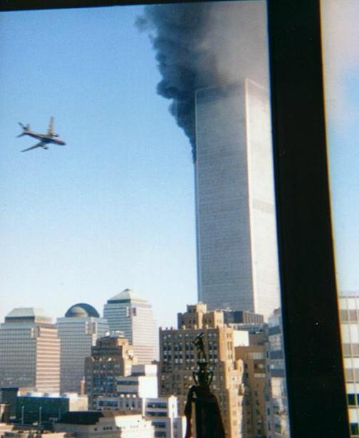 View of the Plane Just Before the Trade Tower Impact