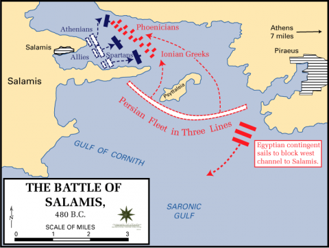 Naval Battle of Salamis Ancient Places and/or Civilizations Famous Historical Events Film Geography Social Studies World History
