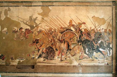 Pompeii - Alexander and Darius in Battle Visual Arts Ancient Places and/or Civilizations Archeological Wonders Geography