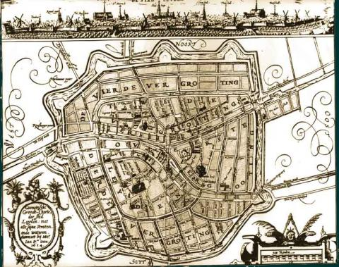 Leiden - Map at Time of Pilgrims' Residence Social Studies Tragedies and Triumphs Geography