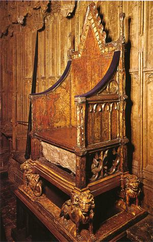 The Coronation Chair and the Stone of Scone, Westminster A ... |Westminster Abbey Throne