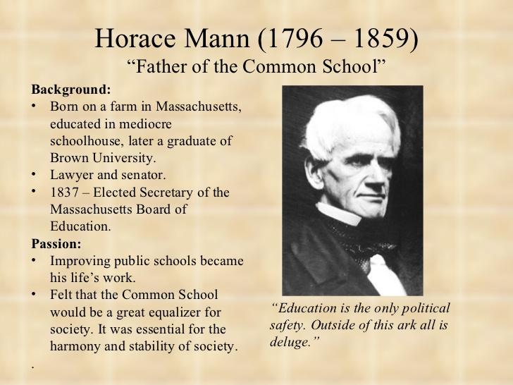 Horace mann important dates
