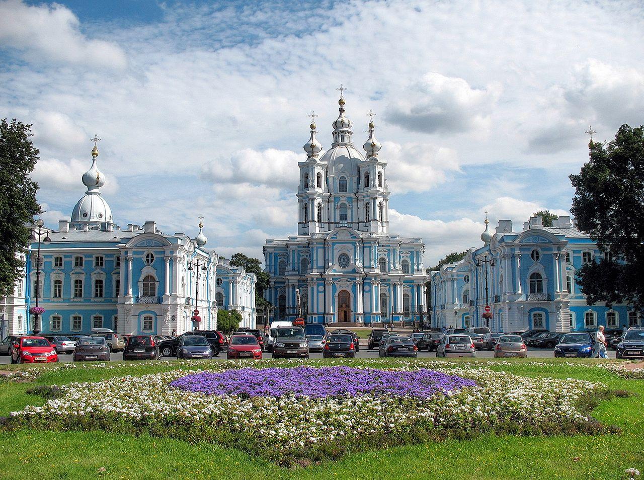 Smolny Convent (1725), St. Petersburg, Russia: Architecture ...