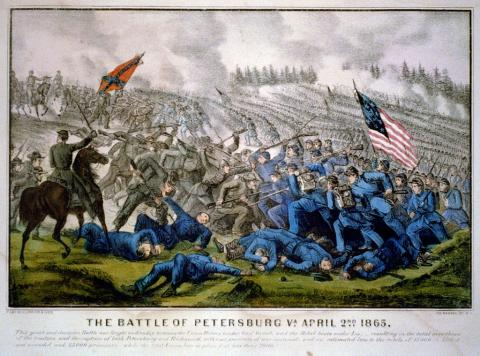 SIEGE OF PETERSBURG (Illustration) American History Civil Wars Famous Historical Events Film Geography Social Studies Visual Arts Nineteenth Century Life Fiction