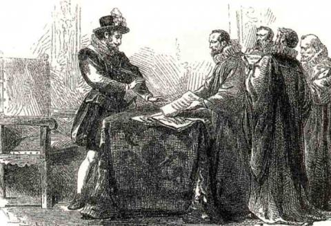 Henry IV  signing the Edict of Nantes