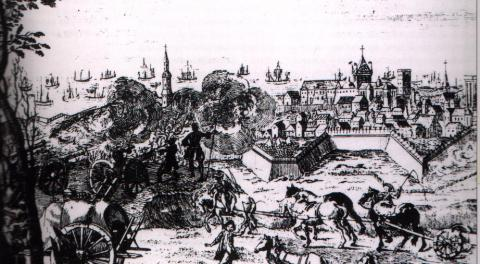 Siege at Cartagena - Late 17th Century Visual Arts Famous Historical Events Social Studies World History