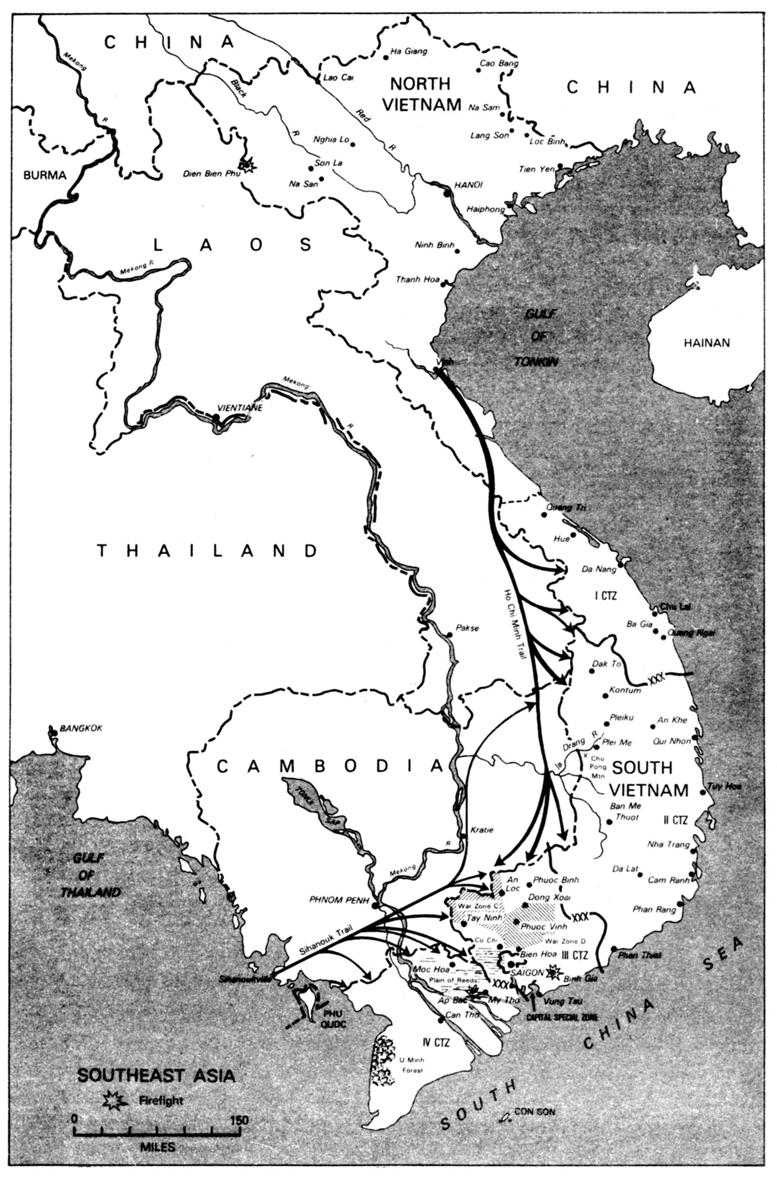 Map Depicting Plei Me Vietnam War - Us map creator