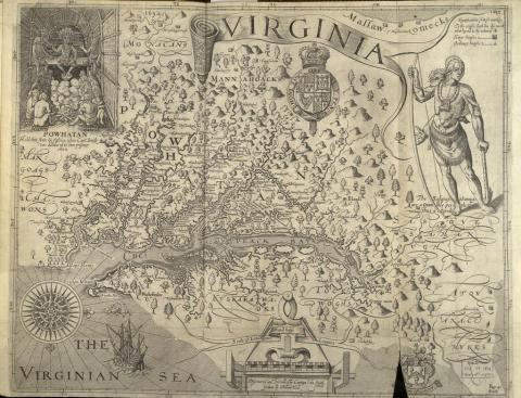 John Smith - Map of Chesapeake Bay Famous Historical Events Famous People Social Studies Geography