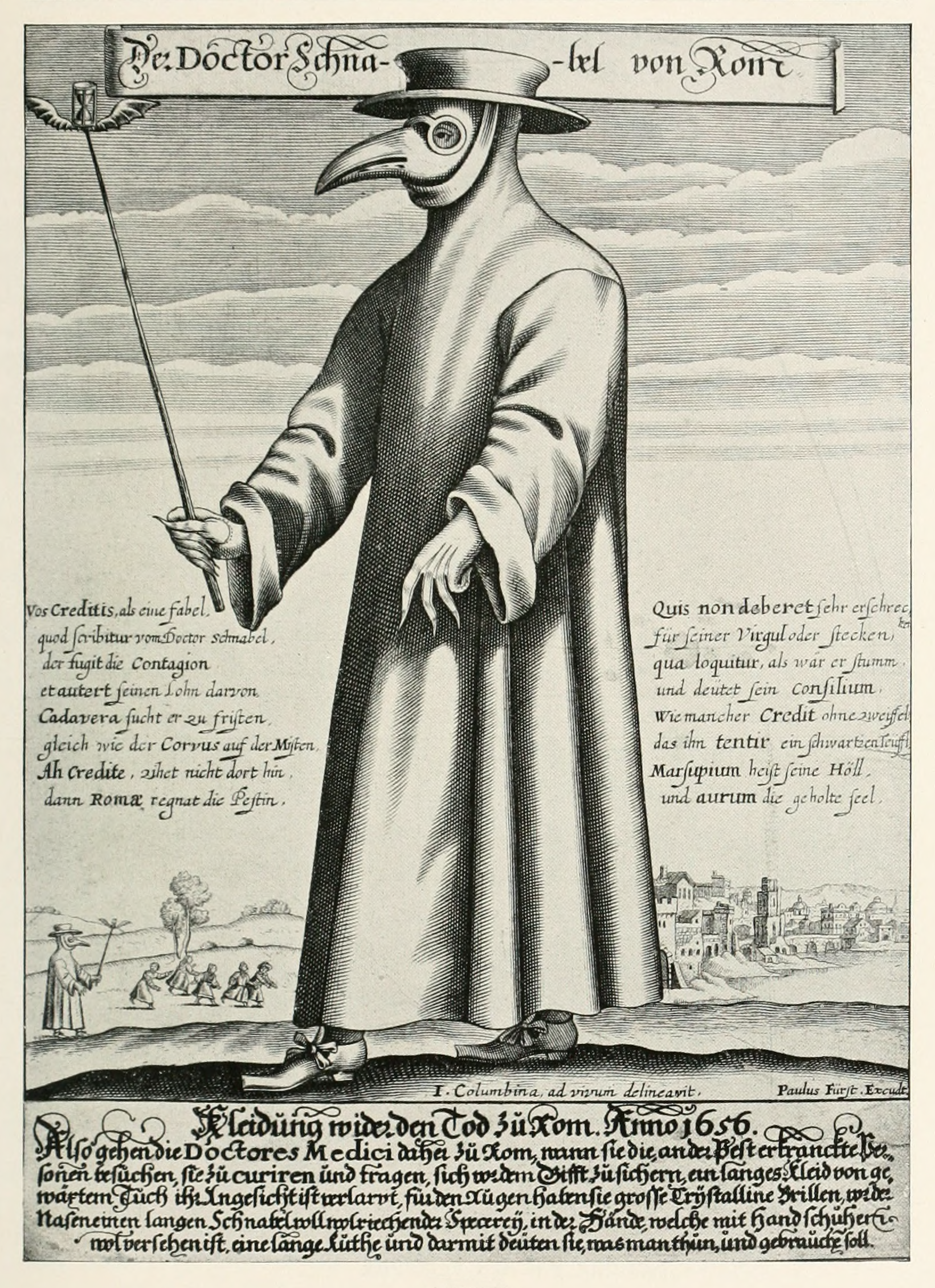 Garb Of 17th Century Plague Treating Doctor Illustration Medicine Visual Arts World