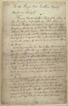 America - Colonial Grievances, Letter to King George III