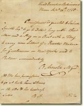 Pass Signed by Benedict Arnold
