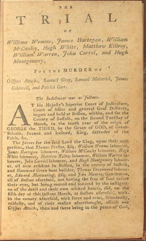 Indictment in the Boston Massacre