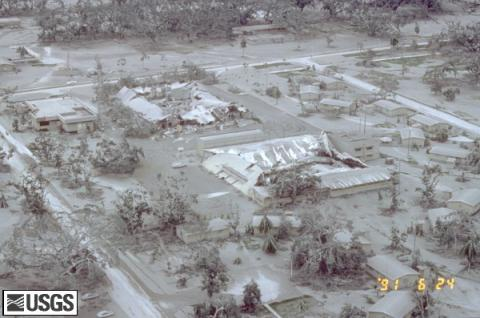 Clark Air Base - Damaged by Mt. Pinatubo Eruption Famous Historical Events Geography Social Studies World War II Disasters