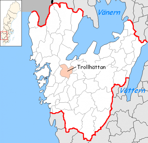 Trollhattan - Map Locator Geography World History