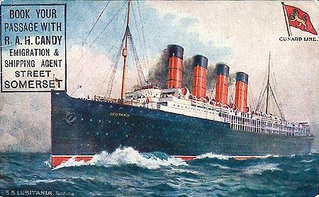Lusitania Sinking (Illustration) American History Famous Historical Events Film Social Studies Tragedies and Triumphs World History Summer Reading WWI Series Ethics Disasters World War I