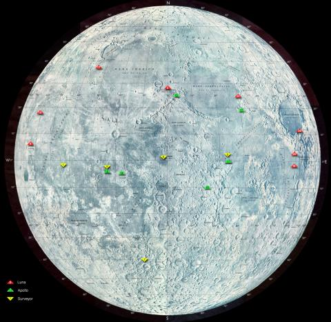 Moon-Landing Sites American History Social Studies Aviation & Space Exploration STEM Famous Historical Events Russian Studies