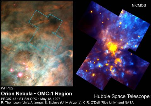 Orion Nebula - OMC-1 Region Astronomy Aviation & Space Exploration STEM Visual Arts