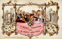 England's First Commercial Christmas Card