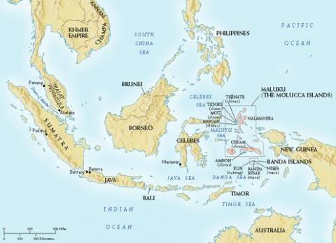 Spice Islands - Map Locator Geography World History