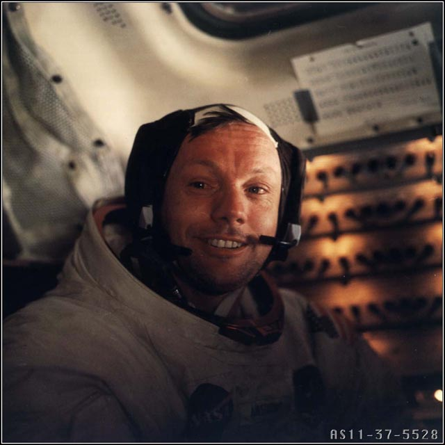 Neil Armstrong After First Moonwalk