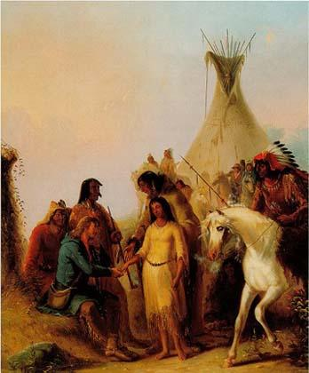 The Trapper's Bride painting by Alfred Jacob Miller