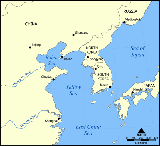 Yellow Sea Map Yellow Sea   Map Locator