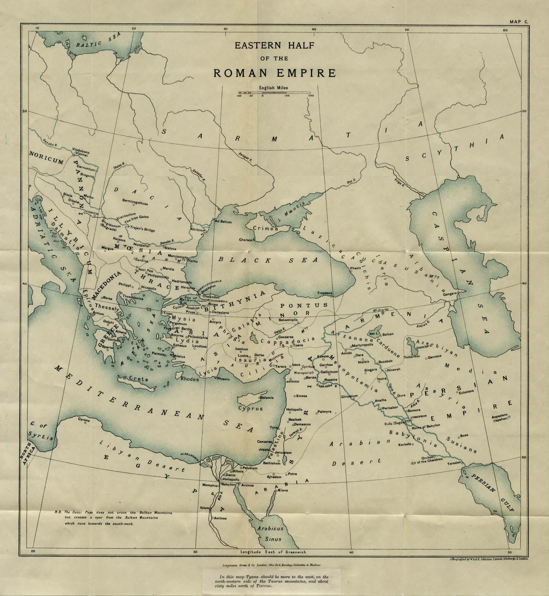 Eastern Half Of The Roman Empire Map - Rome empire map