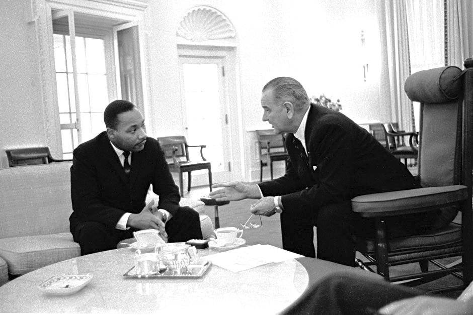 LBJ with King Oval Office Dec 3 1965