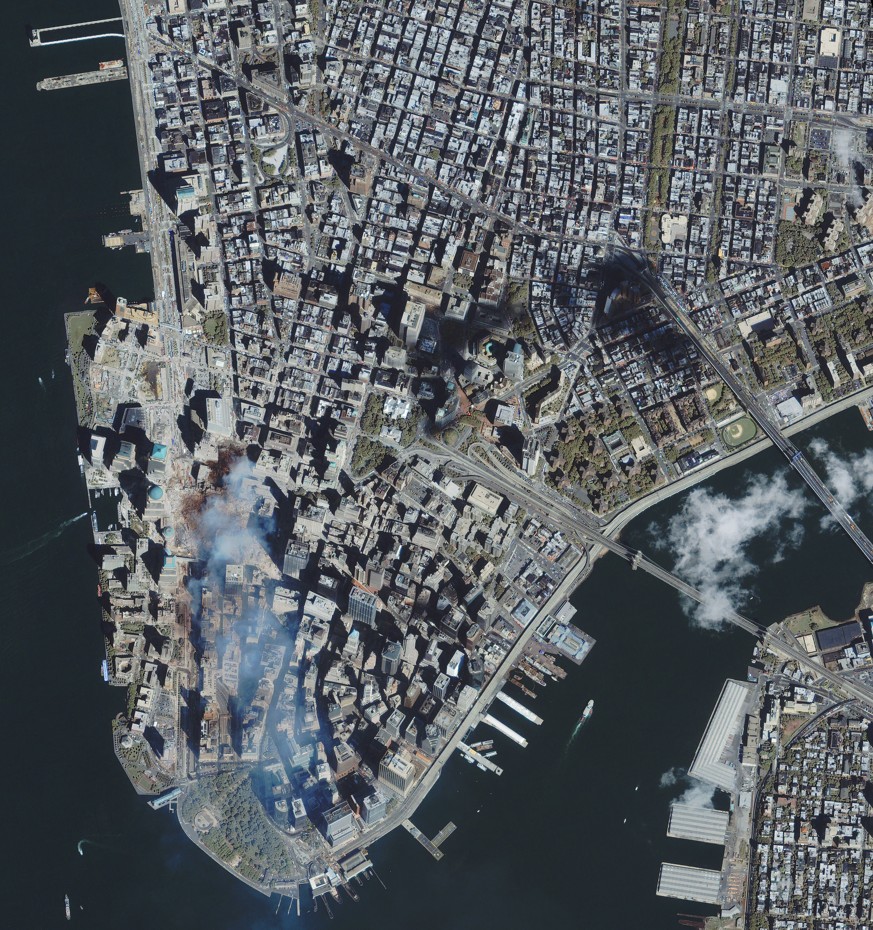 Satellite View Ground Zero World Trade Center - Satellite view
