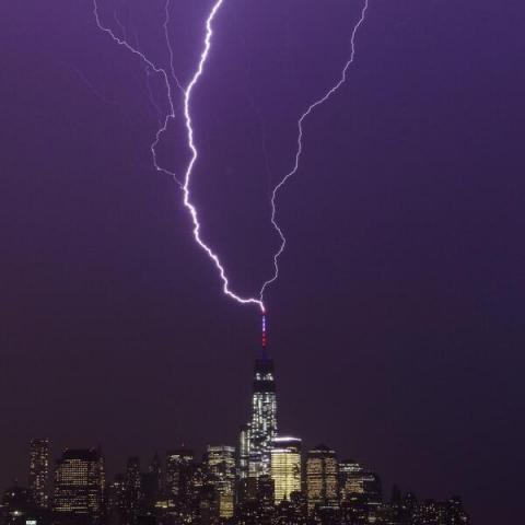 Lightning Rod at Work - One World Trade Center STEM Visual Arts